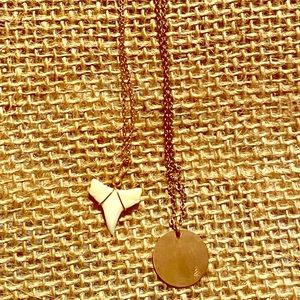 FINAL 👎Shark tooth and gold circle necklace